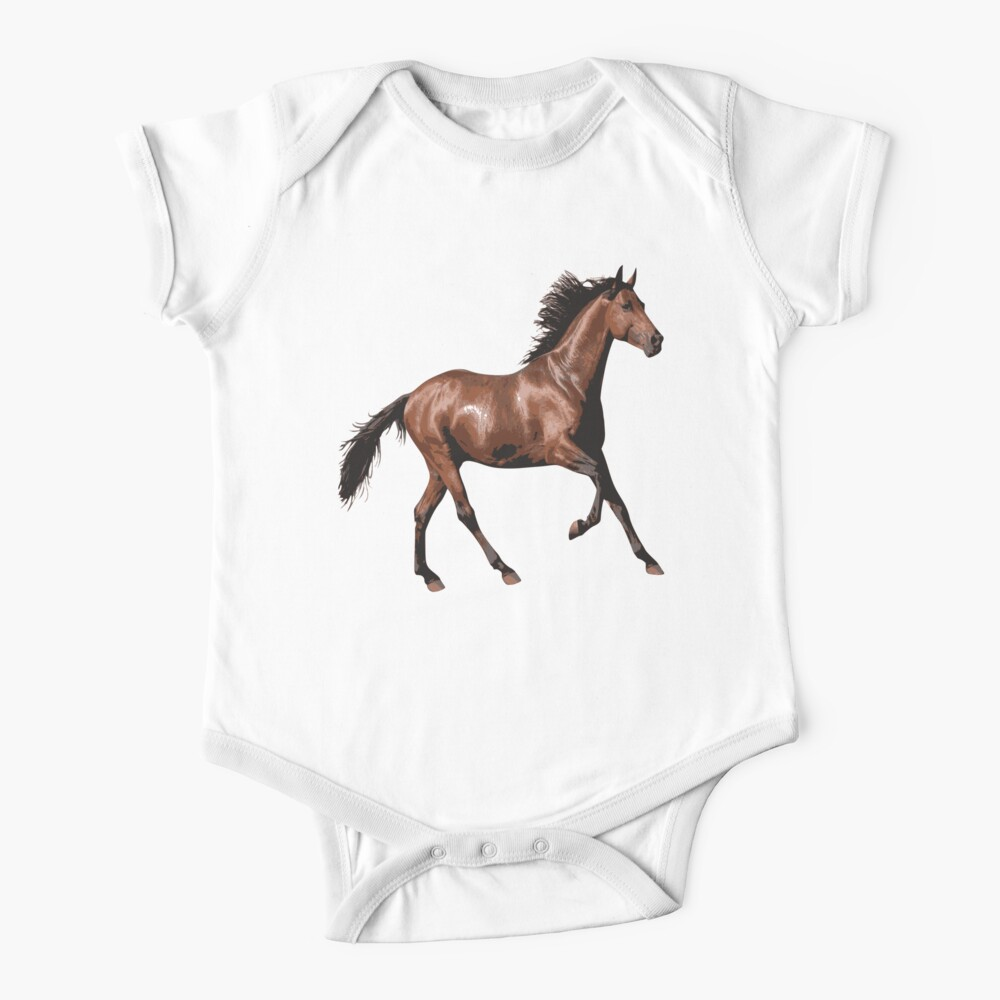 Beautiful Horse Baby One Piece By Pm Tshirts Redbubble