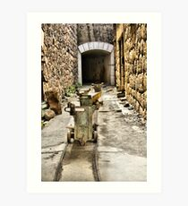 Ammo trollies! Bateria de Cenizas, Costa Calida, Spain  Art Print