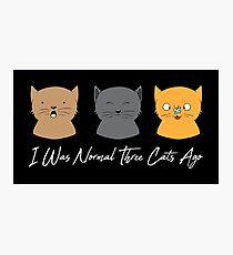 I What Normal Three Cats Ago - Cat Cats Purr Photographic Print