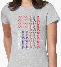 Jiu Jitsu American Flag Women's Fitted T-Shirt