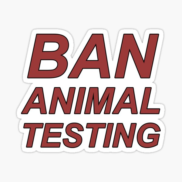 Ban Animal Testing (Red) Sticker