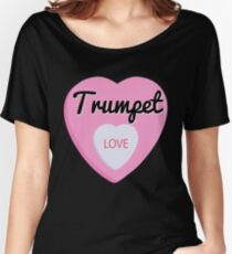 Trumpet  Love Valentine's Day Hearts  Women's Relaxed Fit T-Shirt