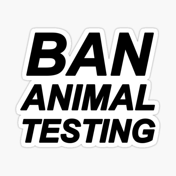 Ban Animal Testig (Black) Sticker