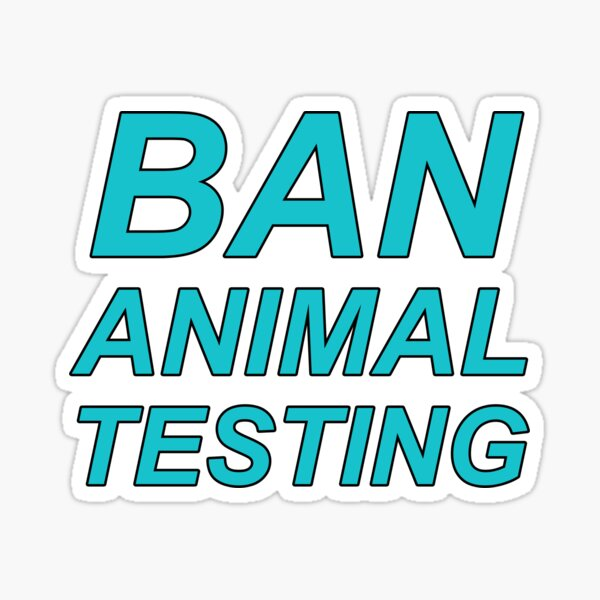 Ban Animal Testing (Blue) Sticker