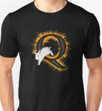 Flame Q Follow The White Rabbit QAnon  Unisex T-Shirt