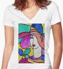 Stylish Fashion Women's Fitted V-Neck T-Shirt