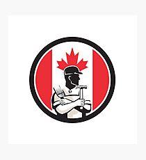 Canadian DIY Expert Canada Flag Icon Photographic Print