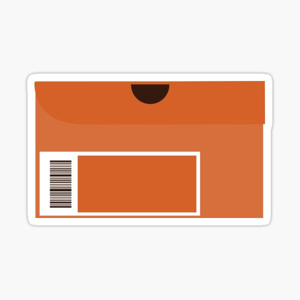 Orange Shoebox Sticker