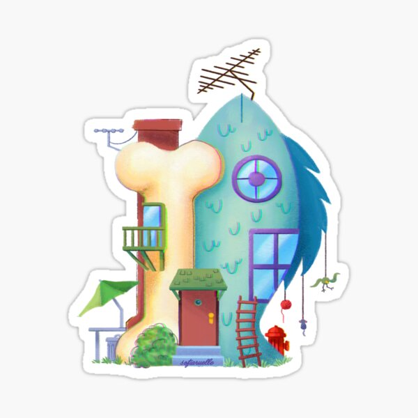 CatDog House Sticker