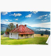 Cottage at Glen Huon Poster