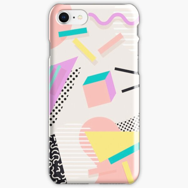 80s / 90s RETRO ABSTRACT PASTEL SHAPE PATTERN  iPhone Snap Case