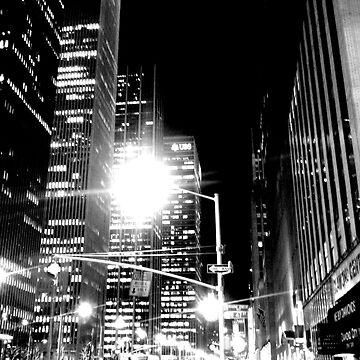 New York at Night by bubblemonkey