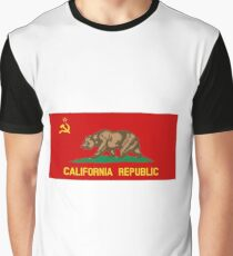 People's Republic of California - Red Communist Flag Graphic T-Shirt