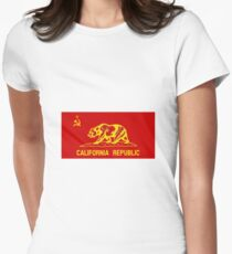 People's Republic of California - Red Communist Flag Women's Fitted T-Shirt