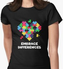 Embrace Differences Women's Fitted T-Shirt
