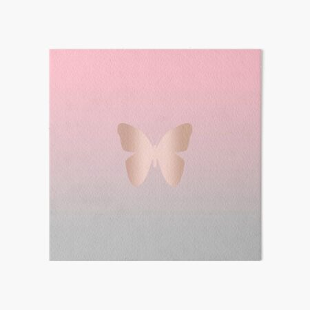 Elegant and modern rose gold butterfly design Art Board Print
