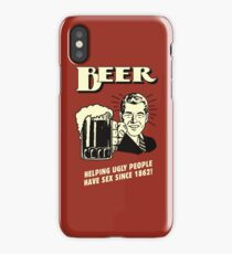 Drinking Beer - Helping Ugly People iPhone Case/Skin