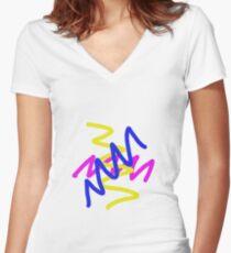 Zig zag Women's Fitted V-Neck T-Shirt