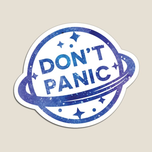 No entres en pánico Imán