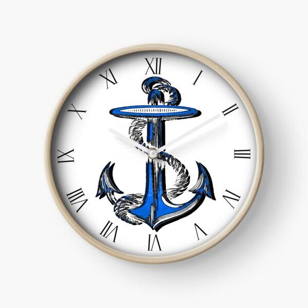 Blue Anchor Clock