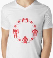 Toys for children: robots, remote control, cubes. Men's V-Neck T-Shirt