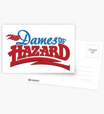 Dames of Hazard Postcards