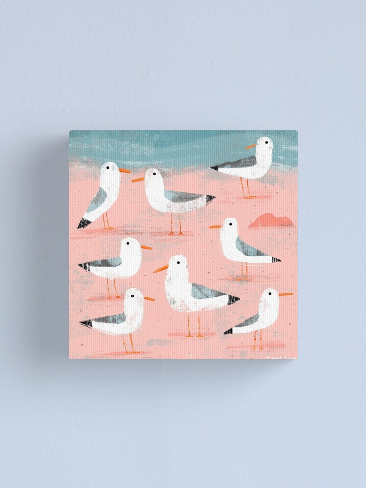 Alternate view of Seagulls on the Shore Canvas Print