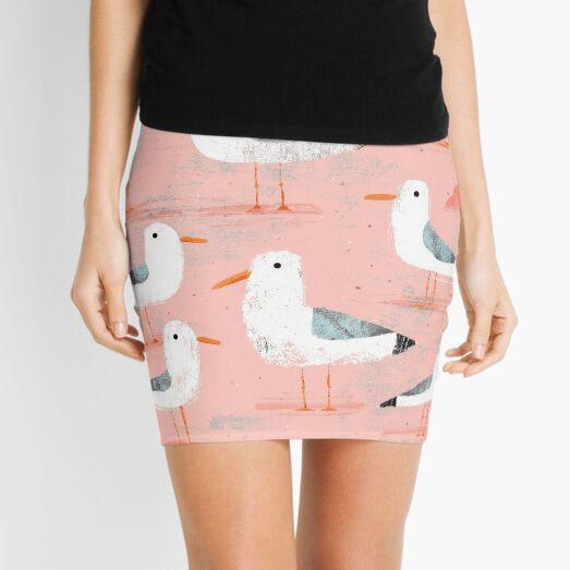 Seagulls on the Shore Mini Skirt