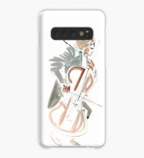 Cello Player Musician Expressive Drawing Case/Skin for Samsung Galaxy