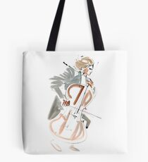 Cello Player Musician Expressive Drawing Tote Bag