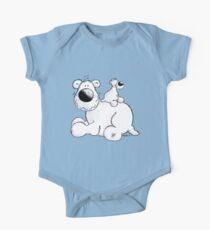 Cute polar bears family cartoon One Piece - Short Sleeve