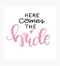 Here comes the bride - rose / black Photographic Print