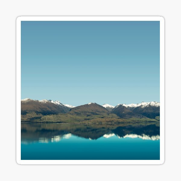 Blue Reflections of mountains Sticker