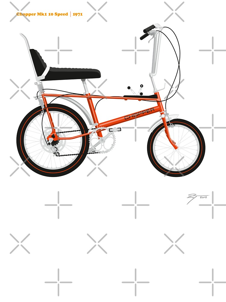 Classic Raleigh Chopper Mk1 10 Speed in Brilliant Orange | Baby One-Pieces
