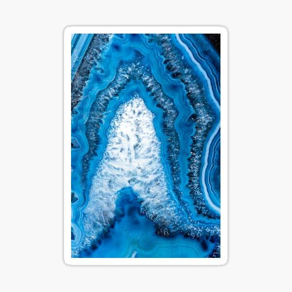 Crystal pillar blue agate 3193 Sticker