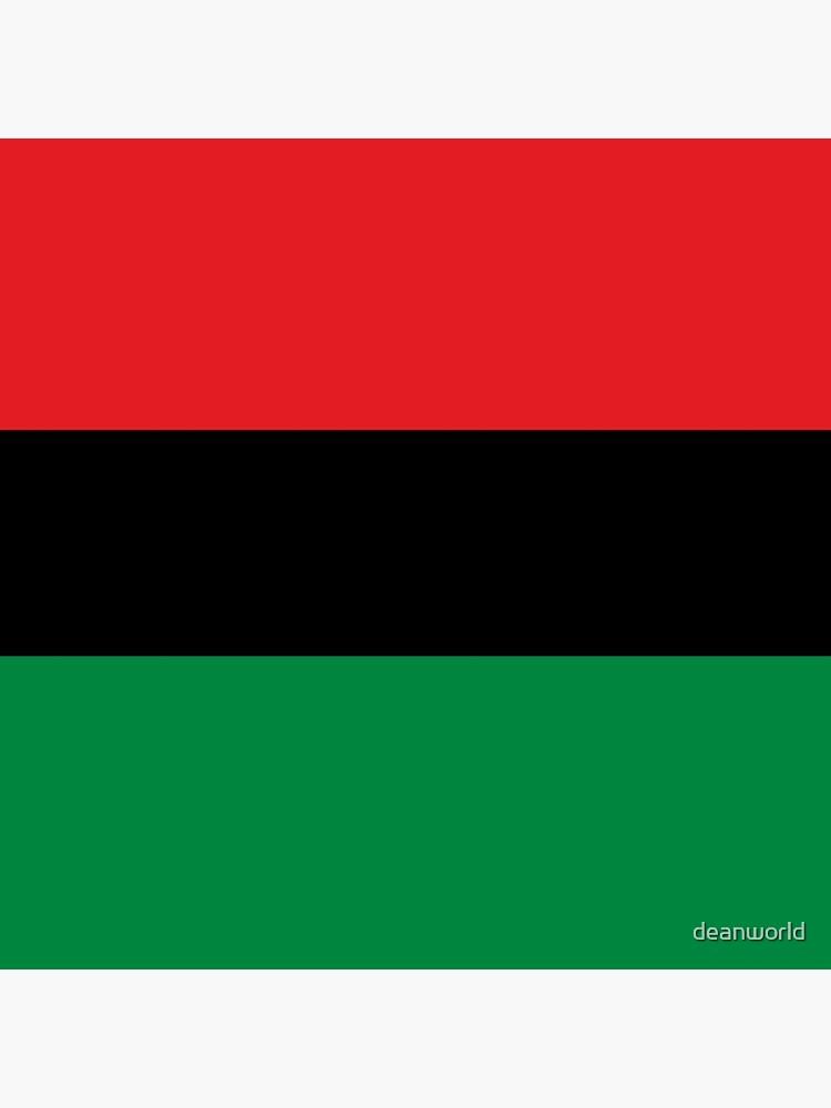 Pan African Flag Bettbezug von deanworld