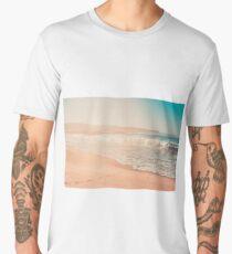 Long Sand Beach at Nazare, Portugal Men's Premium T-Shirt