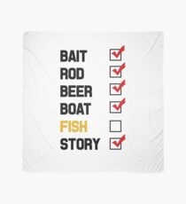 Bait Rod Beer Boat Fish Story Scarf