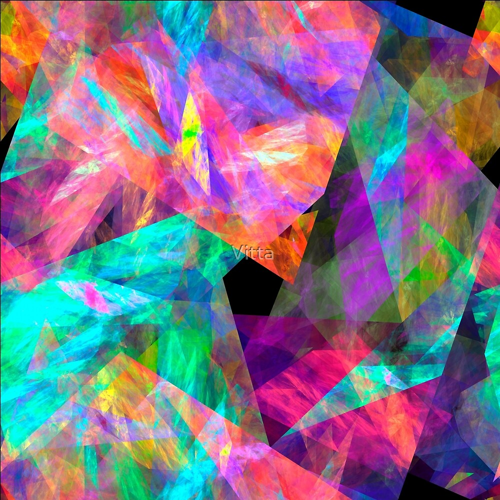 Fractal Abstract Colorful Abstract by Vitta