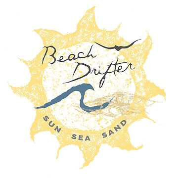 Beach Drifter Sun Logo white back by beachdriftercc