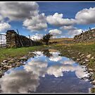 Puddled sky above Askrigg by Shaun Whiteman