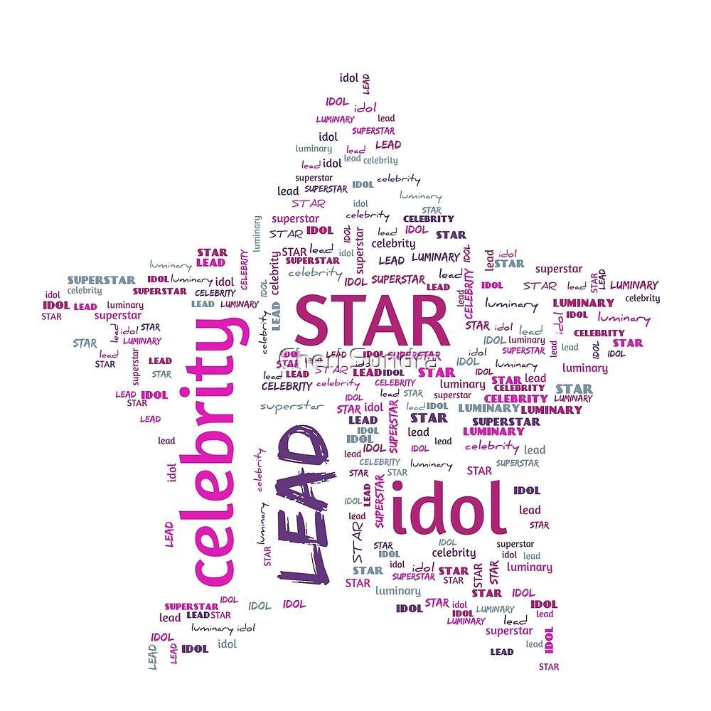 Star Word Cloud 1 by Cheri Sundra