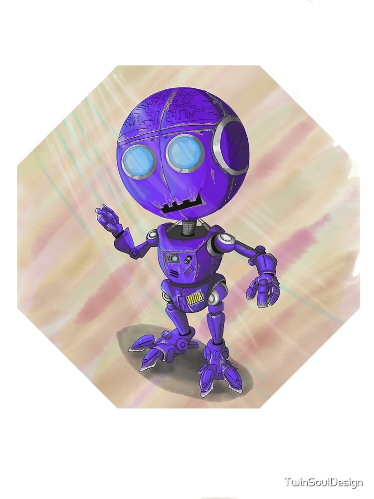 Little purple robot dude by TwinSoulDesign