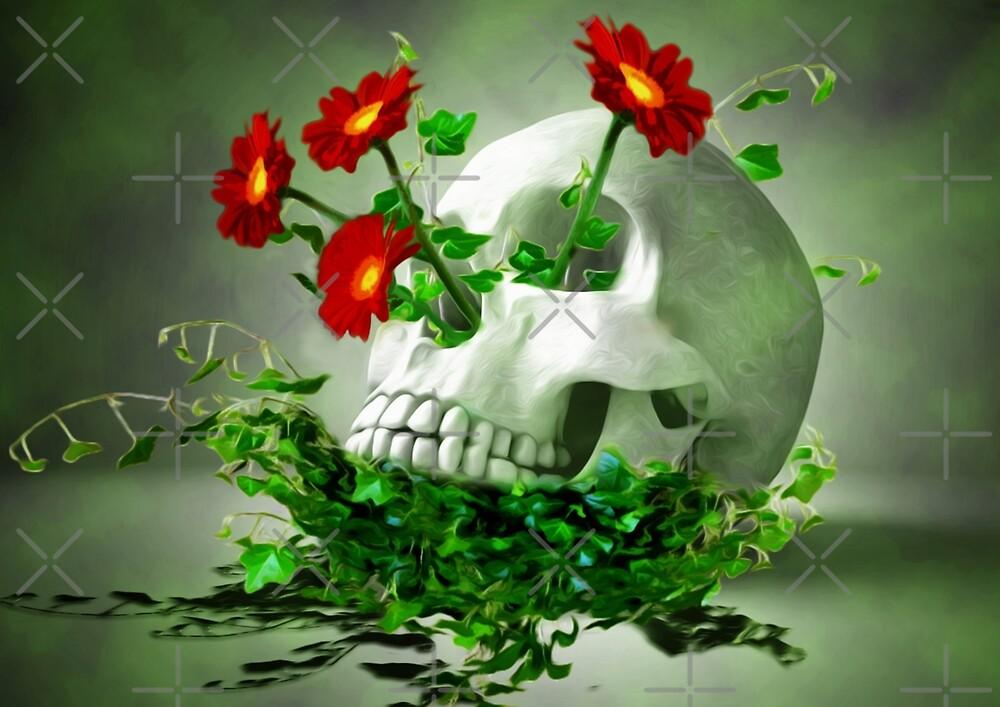 Skull Flower by mtforlife66