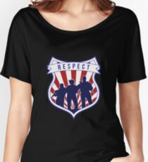 Respect Badge Law Enforcement Police Armed Team Women's Relaxed Fit T-Shirt