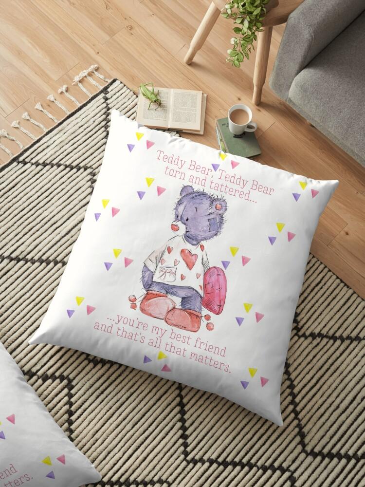 Purple Pink and White Shabby Teddy Bear by ReefCoast
