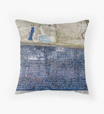 Wall of Love, Montmartre, France Throw Pillow