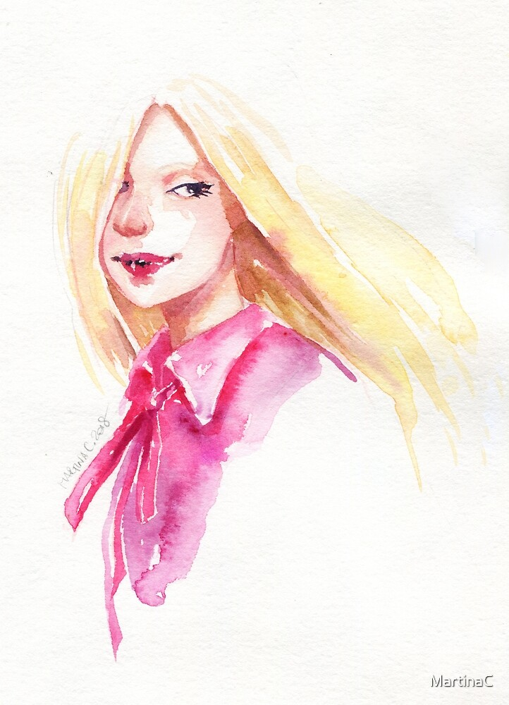 Watercolor portrait by MartinaC
