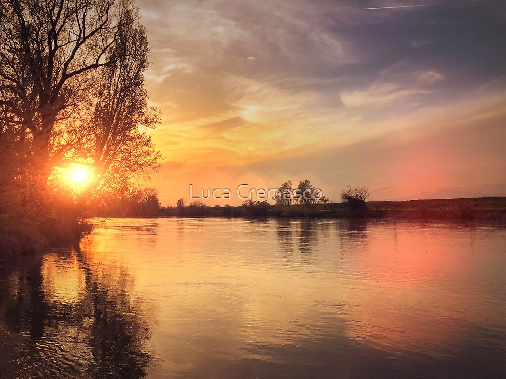 Beautiful Sunset on the river by Luca Cremasco