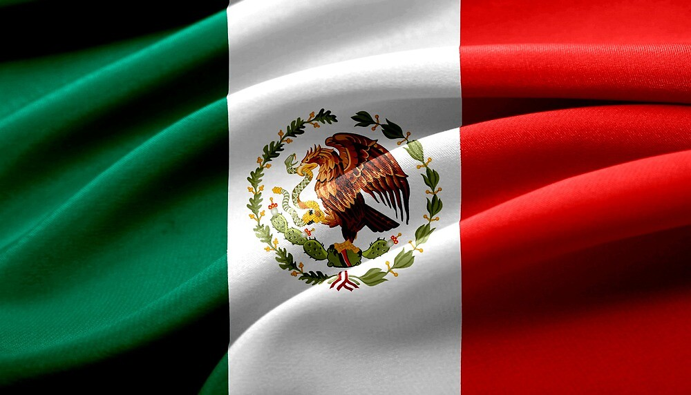 Fabric Mexico Flag by PRODUCTPICS
